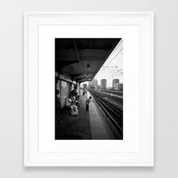 Waiting for Train Framed Art Print
