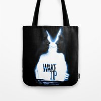 Wake up.....(Donnie Darko Fanart) Tote Bag