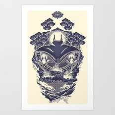 Mantra Ray Art Print