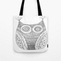 Owl Doodle Art Tote Bag