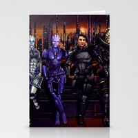Mass Effect - Team Of Aw… Stationery Cards