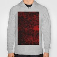 Red And Black Abstract D… Hoody