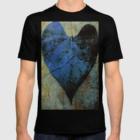 Blue Heart Mens Fitted Tee Black SMALL