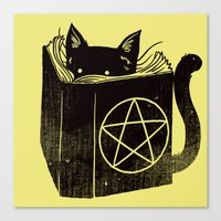 Witchcraft Cat Canvas Print