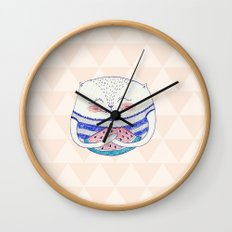 summertime cat Wall Clock