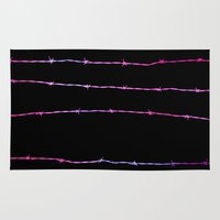 Neon Barbed Wire Rug