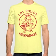 Los Pollos Hermanos vintage ( Breaking Bad ) Mens Fitted Tee Lemon SMALL