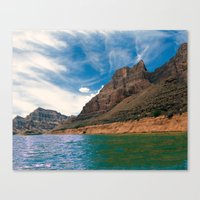 Canyon Waters Canvas Print