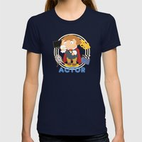 Actor Womens Fitted Tee Navy SMALL