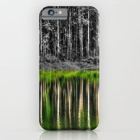 iPhone & iPod Case featuring Forest reflection by Claude Gariepy