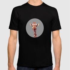 Flower crown giraffe SMALL Black Mens Fitted Tee