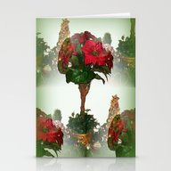Poinsettia - Seamless Stationery Cards
