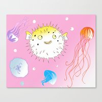 Little Fugu Canvas Print