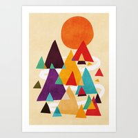 Let's visit the mountains Art Print