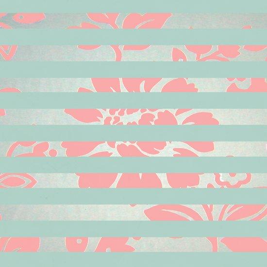 FLORAL STRIPES Art Print