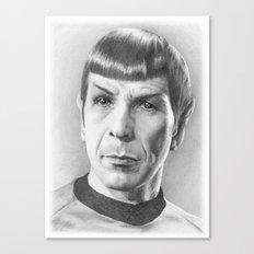 Spock - Fascinating (Star Trek TOS) Canvas Print