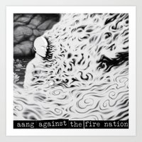 Aang Against The Fire Na… Art Print
