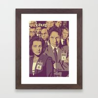 THE X-FILES v1 Framed Art Print