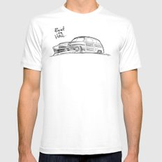 Built to Haul SMALL White Mens Fitted Tee