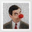 MR. RED NOSE Art Print