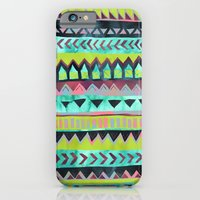 iPhone & iPod Case featuring PATTERN {Tribal Stripe - Green} by Schatzi Brown