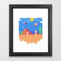 Tiny Worlds - Super Mario Bros. 2: Toad Framed Art Print