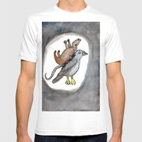 Pigeon Rat Mens Fitted Tee White SMALL