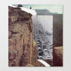 Road Block Canvas Print