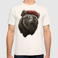 HANDSOME BEAR Mens Fitted Tee Natural SMALL
