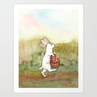 On the Way to the Picnic Art Print