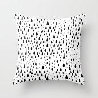 Polka Rain Drops Throw Pillow