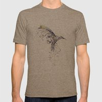 Humming Bird  Mens Fitted Tee Tri-Coffee SMALL