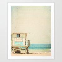 White Beach Art Print