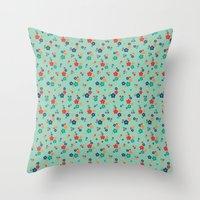 Blossom Ditsy In Grayed … Throw Pillow