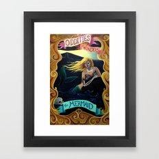 Carnival Sideshow - The Mermaid Framed Art Print
