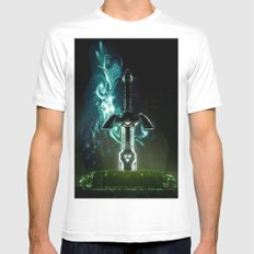 Savior of Hyrule Mens Fitted Tee White SMALL
