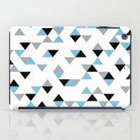 Triangles Ice Blue iPad Case