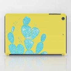 Linocut Cacti #1 Desert Blue iPad Case