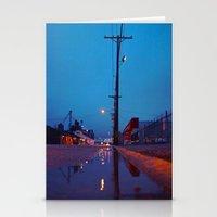 Roadside puddle Stationery Cards