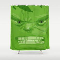 Post it portrait: The Hulk Shower Curtain