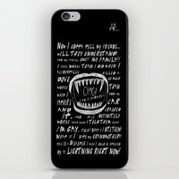 OMG! I AM A GAY VAMPIRE!! iPhone & iPod Skin