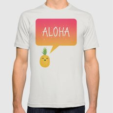 Aloha Mens Fitted Tee Silver SMALL