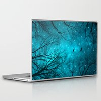 forest Laptop & iPad Skins featuring Stars Can't Shine Without Darkness  by soaring anchor designs