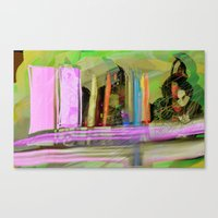 Color Spikes Canvas Print