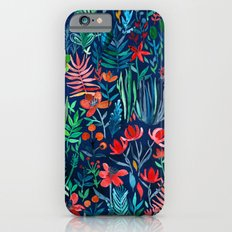 Tropical Ink - a watercolor garden iPhone 6s Slim Case