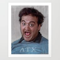 Art Print featuring Animal House (Food Fight… by Lensebender