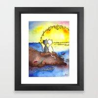 Cats at Sunset Framed Art Print