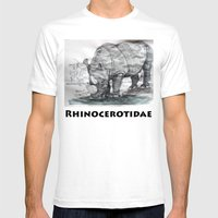 Rhinocerotidae Mens Fitted Tee White SMALL
