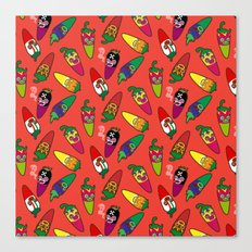 Red Hot Chili Pattern 01 Canvas Print