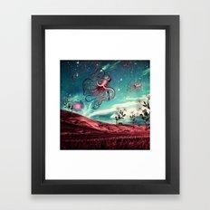 Sunrise Flight on Purple Planet Framed Art Print